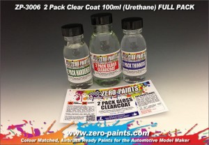 ZERO PAINTS - Gloss 2 Pack Clearcoat 100ml