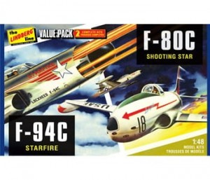 Model plastikowy - Zestaw 2 Samolotów US Korean War Fighters - F-80c Shooting Star & F-94c Starfire - Lindberg