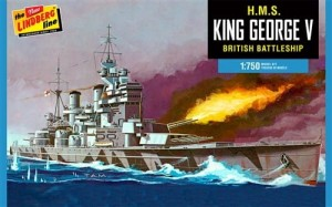 Model plastikowy - Łódź H.M.S. King George V British Battleship 1:750 - Lindberg