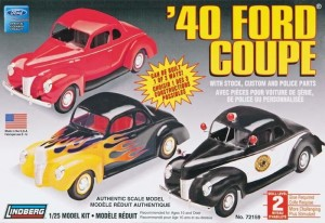 Model plastikowy Lindberg - 40 Ford Custom Coupe