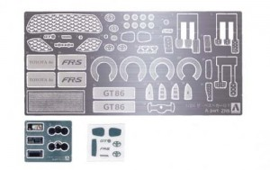 1/24 DETAIL UP PARTS TOYOTA 86 '12 PHOTO-ETCHED