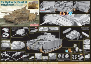 Dragon 6933 1/35 Pz. Kpfw.IV Ausf H Late (2 in 1)