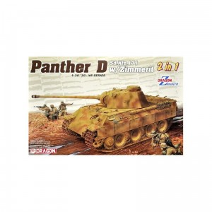 Dragon 6945 1/35 Panther D w / Zimmerit ( 2 in 1 )