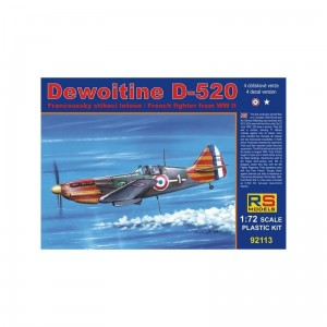 Rs Models 92113 Dewoitine D-520 VIc