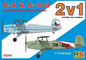 "RS Models 92204 C-4 & C-104 "" 2 in 1 "" 1/72"