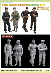 Dragon 6654 Ghost Div Tank Crew